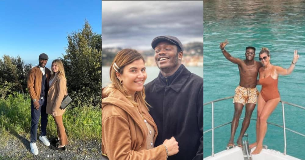 Black Stars winger Emmanuel Gyasi spotted chilling on holidays with Italian girlfriend