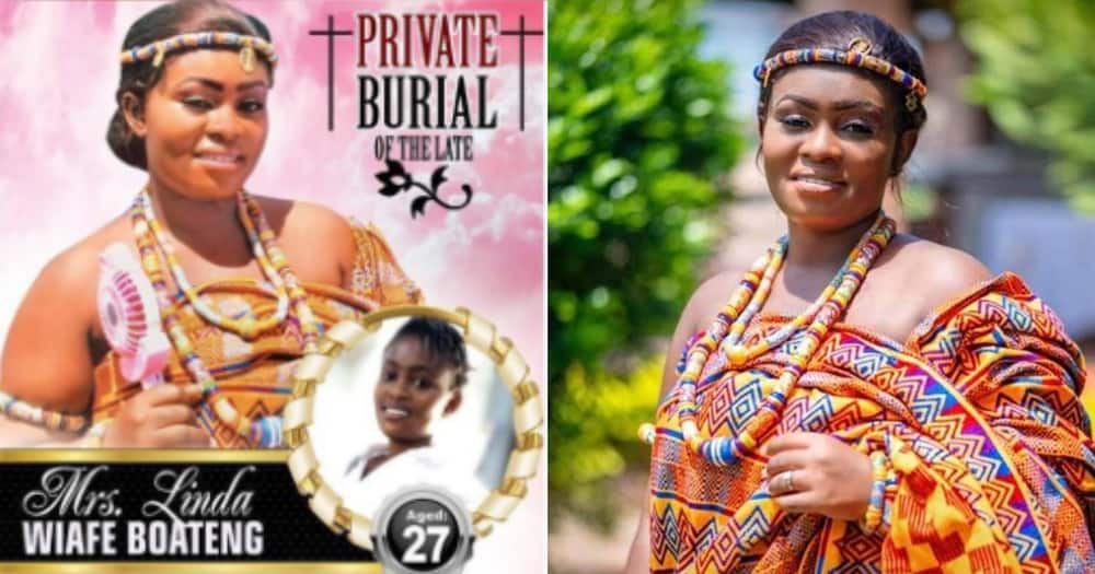 Linda Wiafe Boateng: 27-year-old lady dies a week after her wedding (photos)