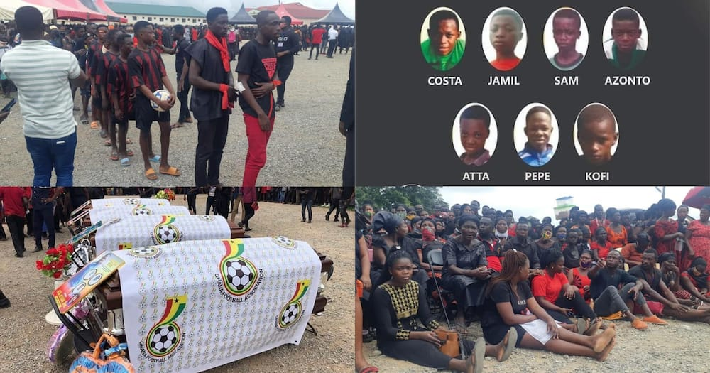 8 young footballers who died in Offinso accident buried