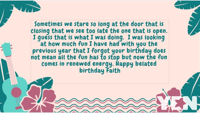 Belated Birthday Wishes Messages And Quotes
