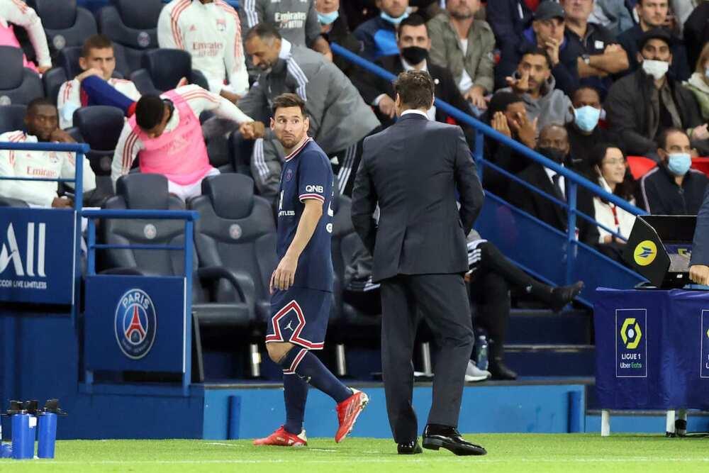 Pochettino and Lionel Messi