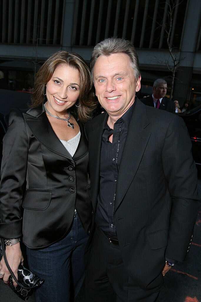 Lesly Brown and Pat Sajak