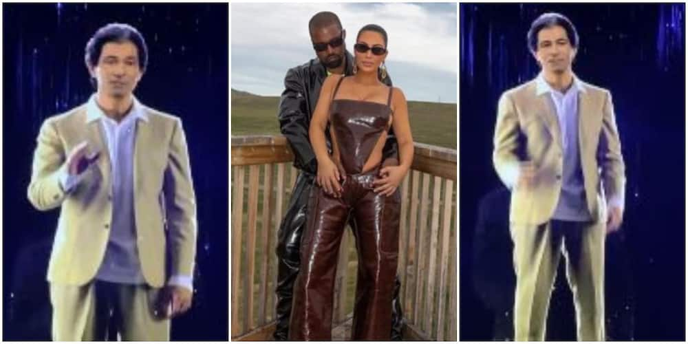 Kanye West gifts Kim Kardashian hologram of her late father for 40th birthday (video)