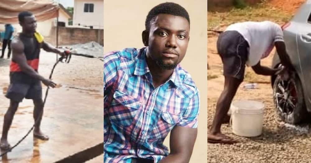 Antwi Boasiako: Meet the Ghanaian graduate who washes cars for a living (Video)
