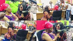 Shatta Wale's girlfriend Magluv tearfully begs his mother; kneels before her in emotional video