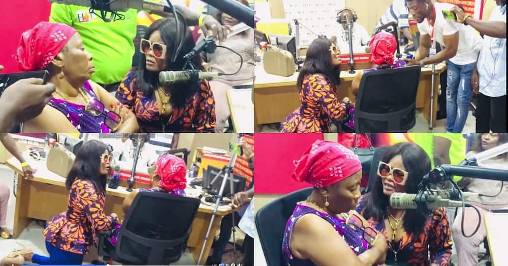 Magluv: Shatta Wale's New Girlfriend Kneels Before His Mother As She Begs Forgiveness On Hot FM