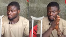 I couldn't pay my medical bill; I ran from the hospital with my one leg - GH man says in emotional video