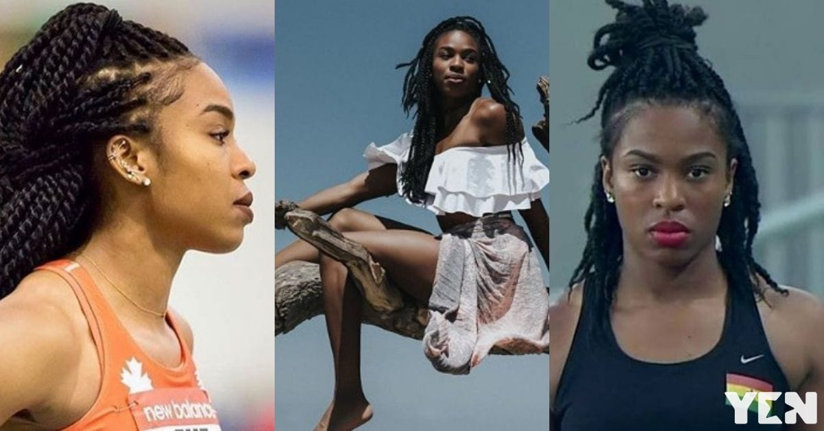 Beautiful athlete Nadia Eke shows more than her jumps in these 6 amazing photos