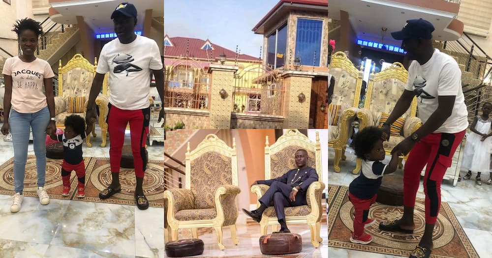 Angel FM's Captain Smart shows plush mansion as he celebrates son's first birthday (photos)
