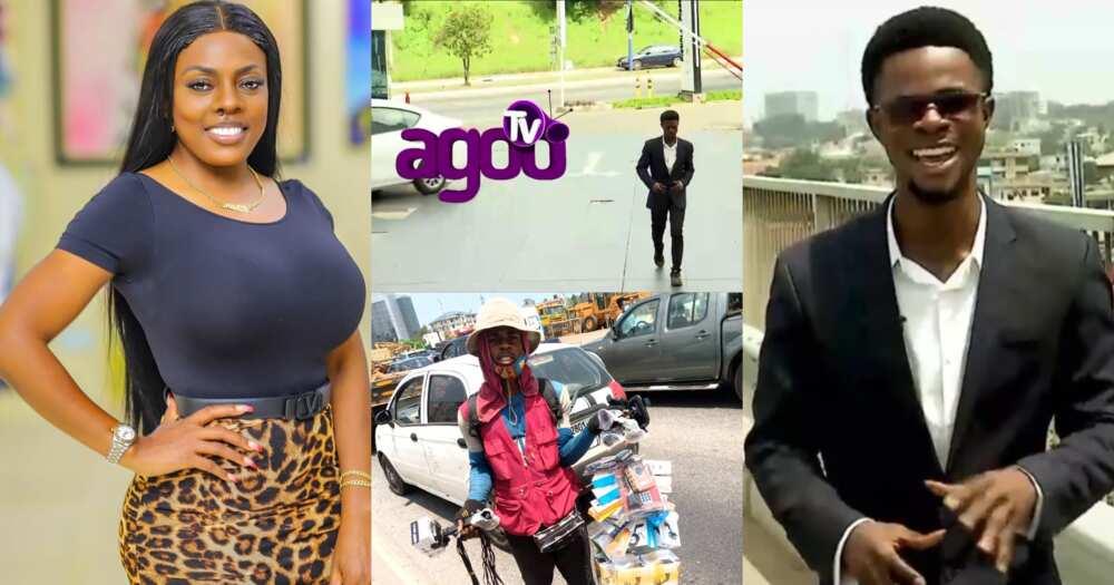 Nana Aba Anamoah trains street hawker to become a TV presenter (video)