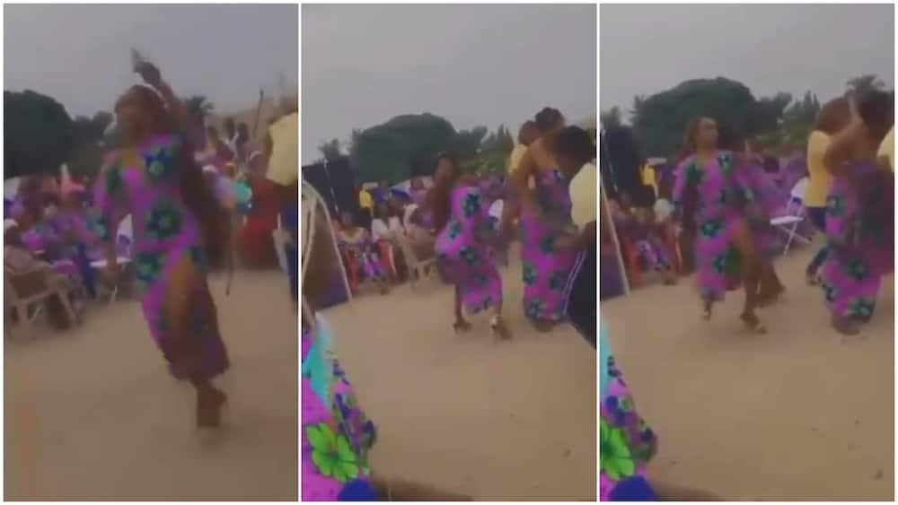 Dramatic Moment as Lady in High Heels 'Scatters' Dance Floor at Party, Twerk to Outmatch Others in Viral Video