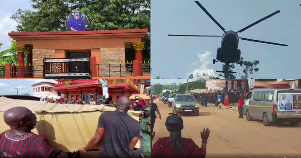 Video Of How Sir John's Body Was Flown In A Helicopter To His Hometown For Burial Stirs Reactions