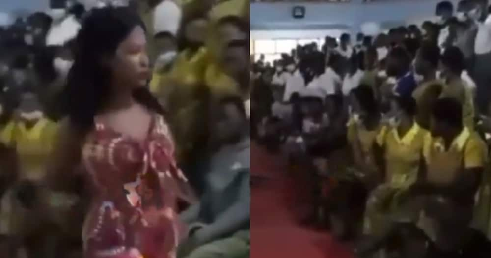SHS Girl Modelling in Heels at her School's Fashion Show Falls in Video; Other Students Scream