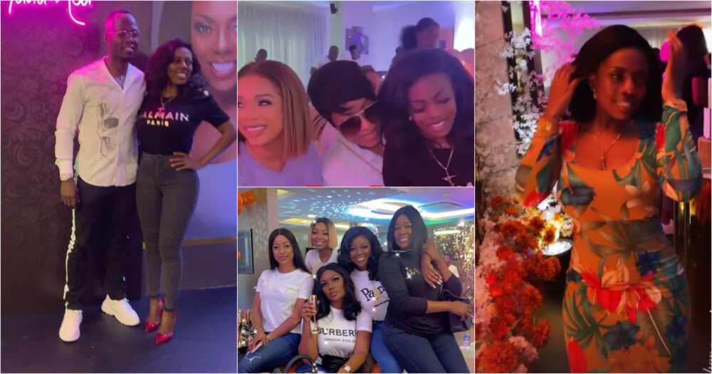 Nana Aba Anamoah Holds Birthday Party With Stonebwoy, Joselyn Dumas, Sandra Ankobiah, Serwaa, Others (Videos)