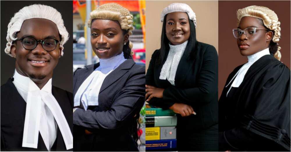 Samuel Pinaman Adomako, Ama Aboagye DaCosta, Gifty Priscilla Okai, and Akua Adjeibea Ameley in the shot