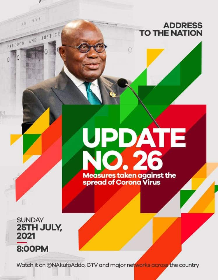 Akufo-Addo to make national address as Ghana's active Covid-19 cases spikes above 4000 amid Delta variant