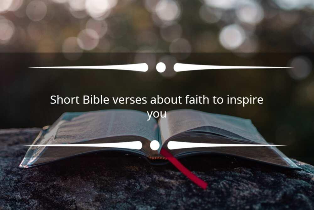 Short Bible verses about faith