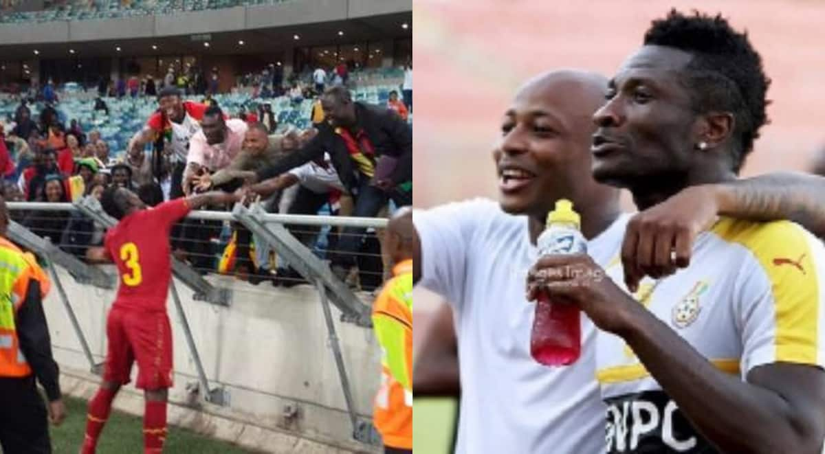 Asamoah Gyan mobbed by fans after Ghana-South Africa friendly (video)