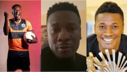 GFAwards21: Asamoah Gyan honoured with Player of the Decade Award, speaks in video