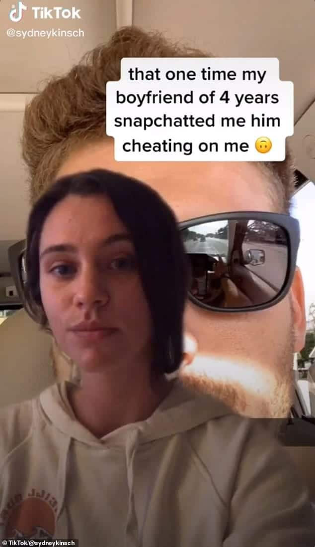 Woman catches lover cheating after he sent her selfie on snapchat