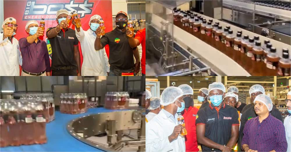 Stonebwoy tours his Big Boss energy drink factory (video)
