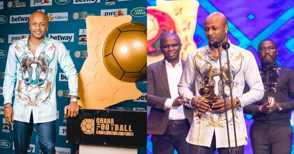 Andre Dede Ayew: Black Stars Captain Celebrates After Winning Best Player Of The Year