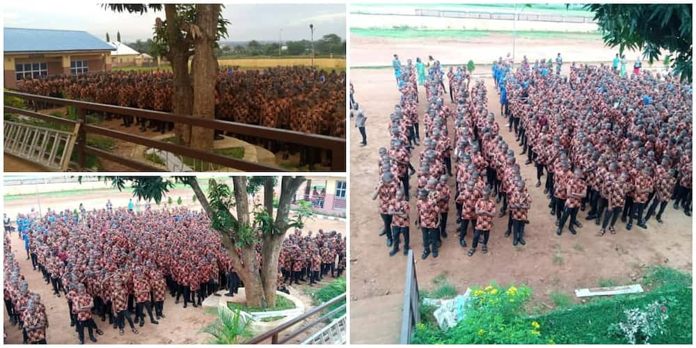 Nigerians react as Anambra secondary school students show up for first assembly in native Isi Agu wear