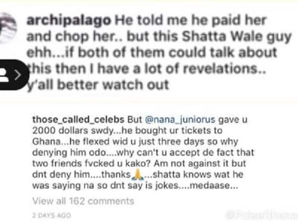 Leaked chat reveals Efia Odo truly had affairs with Shatta Wale and his late friend