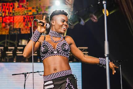 Osibisa's Teddy Osei blesses Wiyaala(Video)
