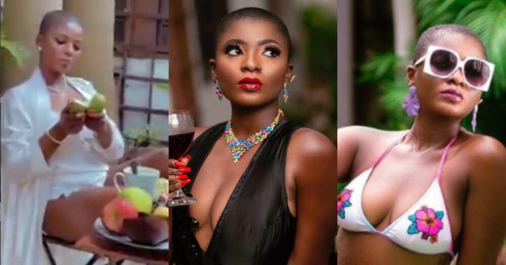 Ahuafe Patri drops bedroom video in hot swimwear as she flaunts plush interior