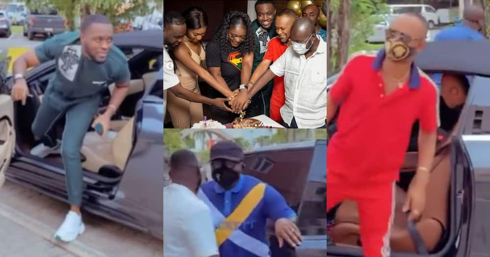 Fadda Dickson, Ken Osei, Bola Ray, others storm Dentaa's surprise b'day party in luxurious cars