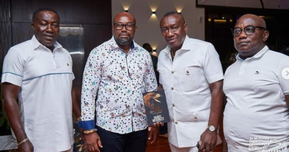 McDan drop powerful photos with Despite and Ofori Sarpong for the first time, many react