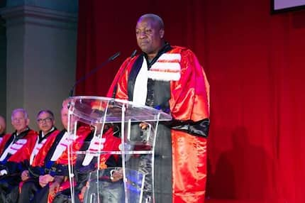 Beautiful photos emerge as Mahama bags his 4th honorary doctorate in France