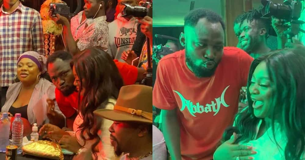 Jackie Appiah: Funny Face tries to kiss actress at Adonko Next Level launch (video)