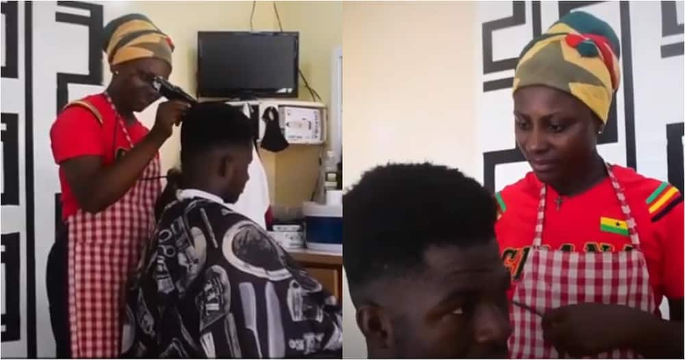 Fidelia Adogo: Meet the Ghanaian single mother who works as a barber to cater for her 3 children