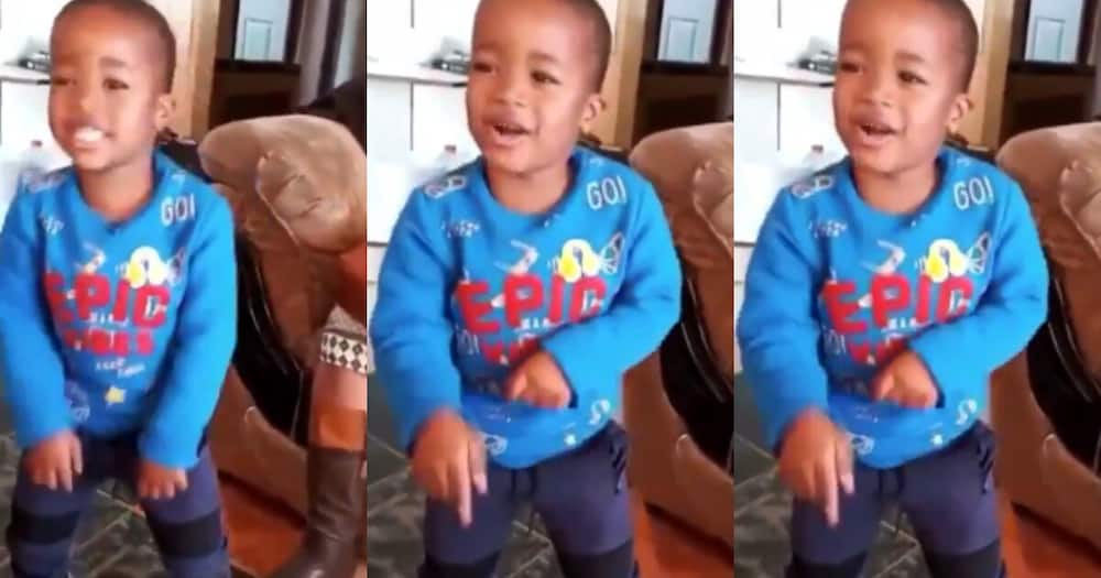 """""""A star is born"""" Little boys rapping skills melts tweep's hearts"""
