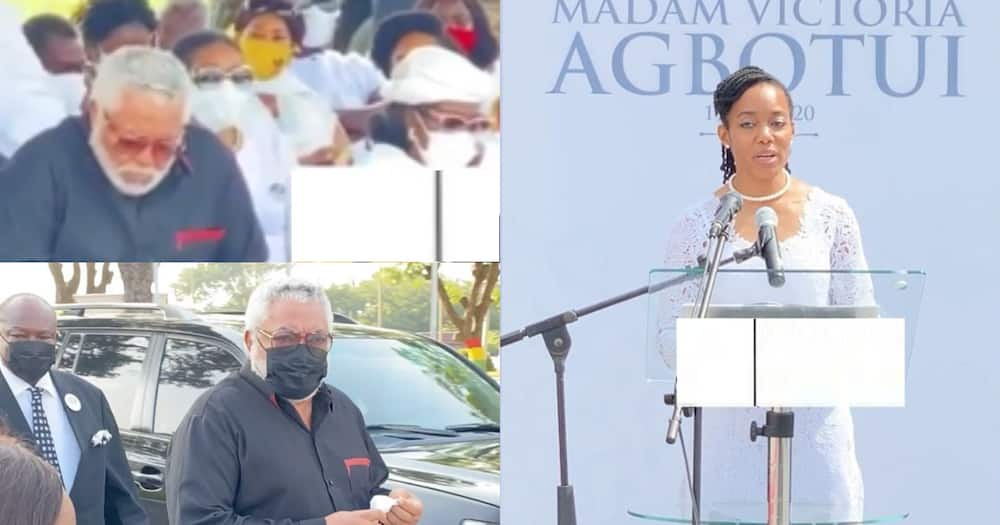 Rawlings weeps at mother's burial; Zanetor reads tribute for him (video)