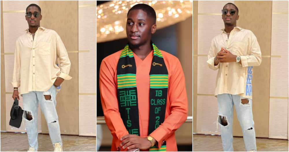 Saahene Osei: Despite's 18-year-old son drops new fashion photos after graduating from TIS