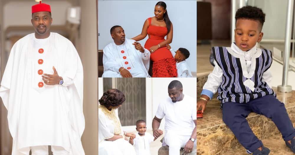 Family goals: 7 photos of John Dumelo and his wife sharing sweet moment with their all-grown son