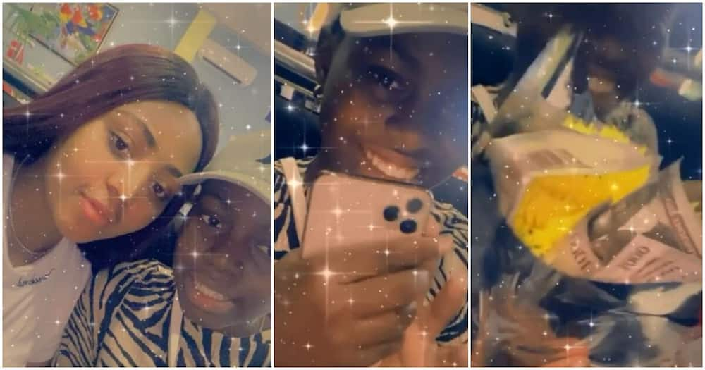 Regina Daniels pays surprise visit to sister as she clocks a year older, gifts her iPhone 11 pro (video)