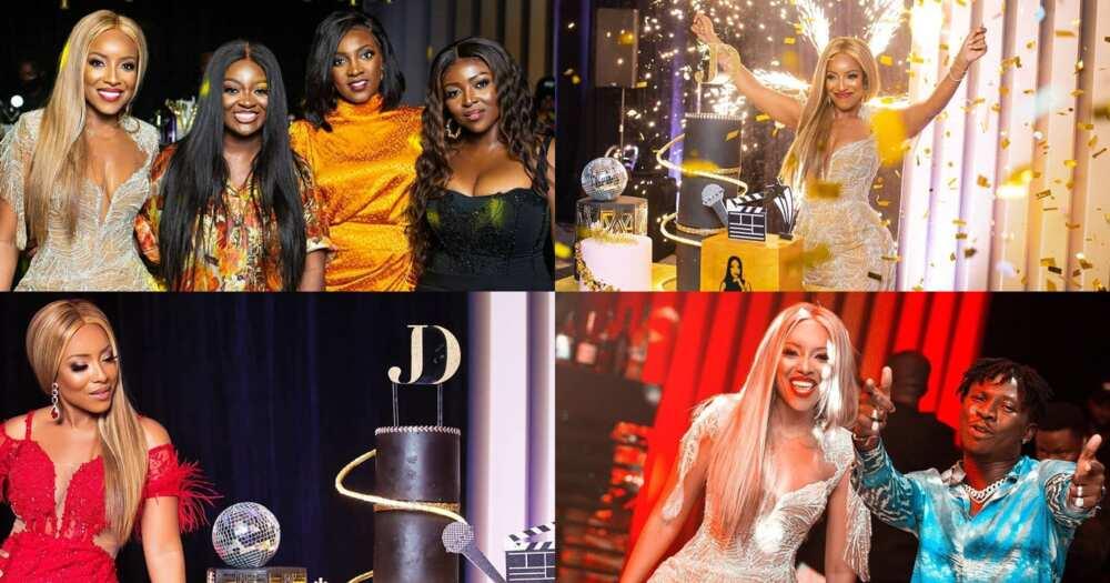 Joselyn Dumas holds birthday party with Jackie Appiah, Okoro, Stonebwoy, Sarkodie (photos)