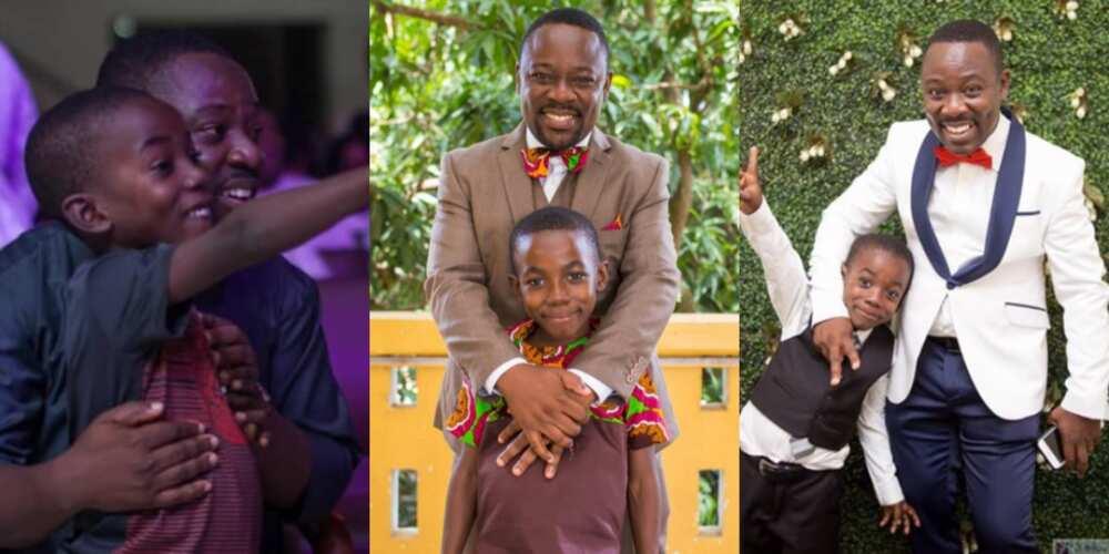 Ghanaian musician Nii Okai shares beautiful photos of lookalike son as he celebrates his 9th b'day