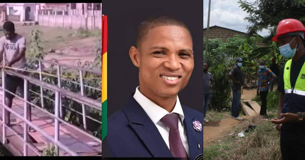 Madina MP, Francis Sosu uses his own money to construct bridge for constituents