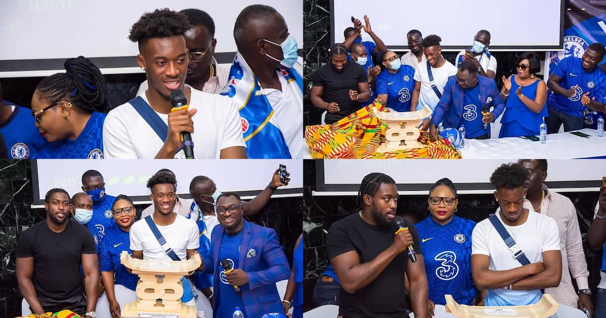 Beautiful photos and video emerge as Chelsea fans in Ghana present special gift to Callum Hudson-Odoi