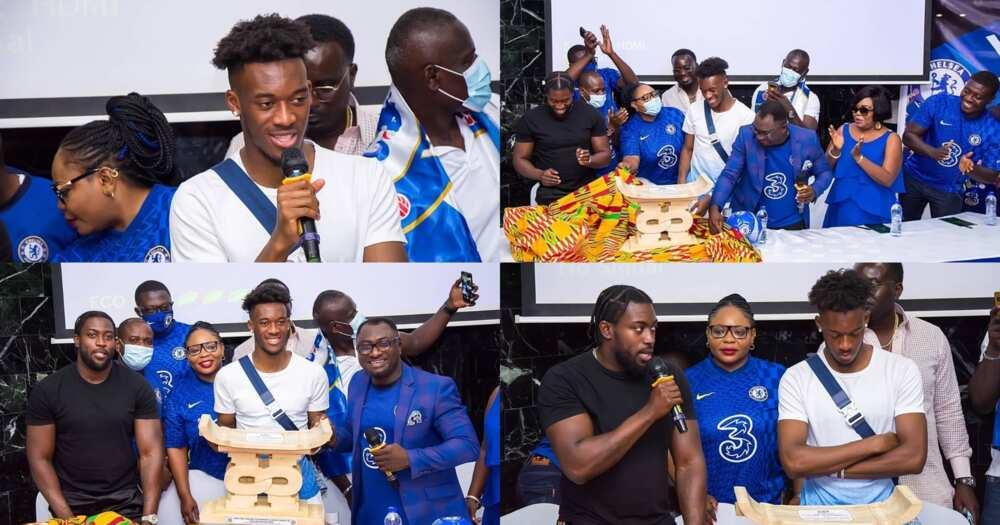 Callum Hudson Odoi: Chelsea Fans In Ghana Gift Winger Adinkra Stool; Video And Photos Drop