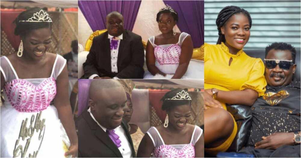 Asantewaa: First-ever wedding photos of TikTok star and her rich husband pops up