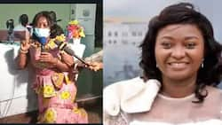 Central Regional minister spotted on her knees begging for approval of Cape Coast MCE