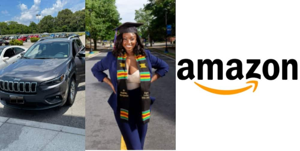Kiara Lofton: 21-years-old Lady Lands First Job at Amazon as Manager and Purchases 2021 Jeep Cherokee as well