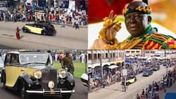 Massive cheers for Otumfuo as he rides in his 86-year-old Rolls Royce on the streets of Kumasi; video drops