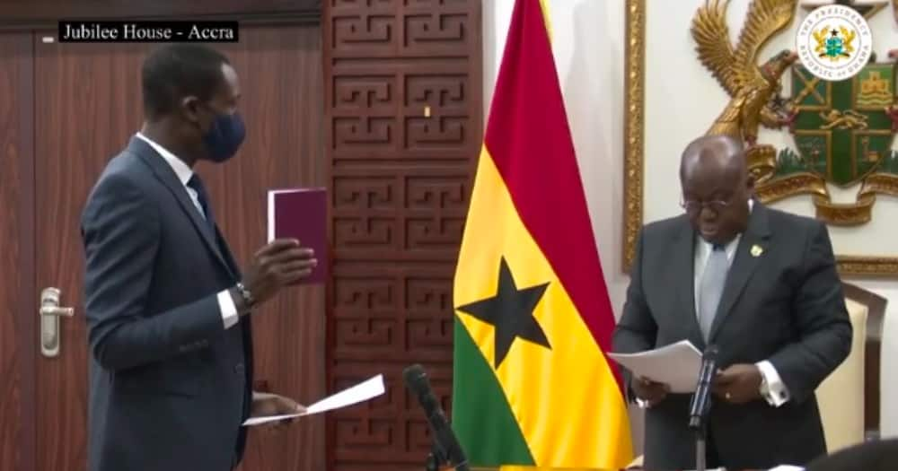 Akufo-Addo finally swears in Kissi Agyebeng as Ghana's 2nd Special Prosecutor